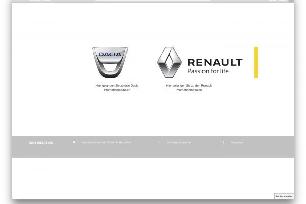 Renault Promotionmodule (Jens Ebert AG)